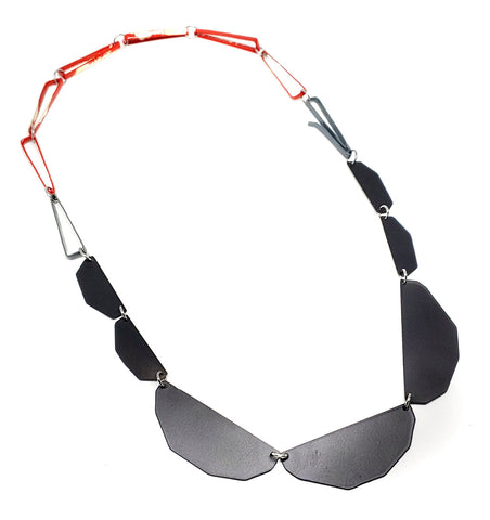 Edge Red Chain Necklace