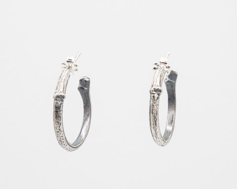 Small Twig Hoop Earrings
