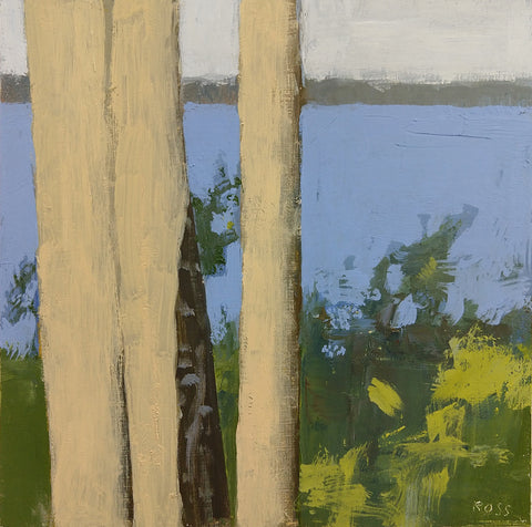 Three Trees by the Lake