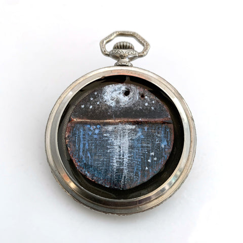 Pocketwatch Seascape Brooch
