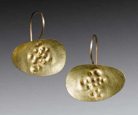 Gold Dimple Earrings