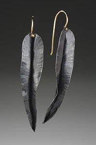 Leaf Earrings (oxidized)