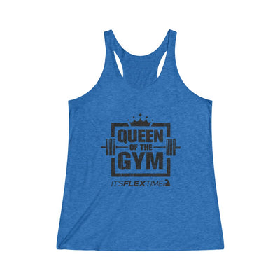 Queen of the Gym Raw Racerback Tank