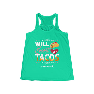 Will Sweat for Tacos Racerback Tank