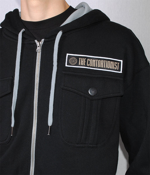 The Contortionist Mother Sun M65 Military Style Zip Hooded Sweatshirt