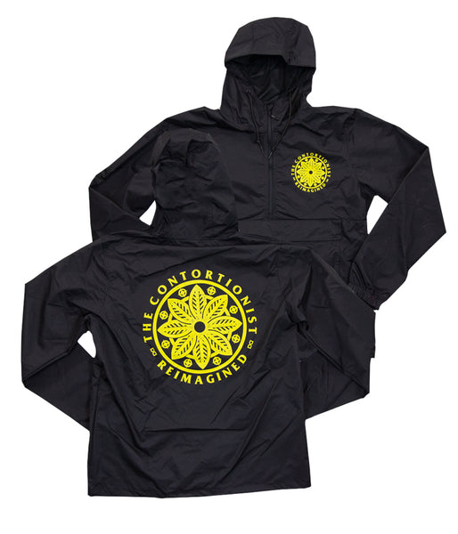 The Contortionist Reimagined Hooded Windbreaker (Black / Yellow)