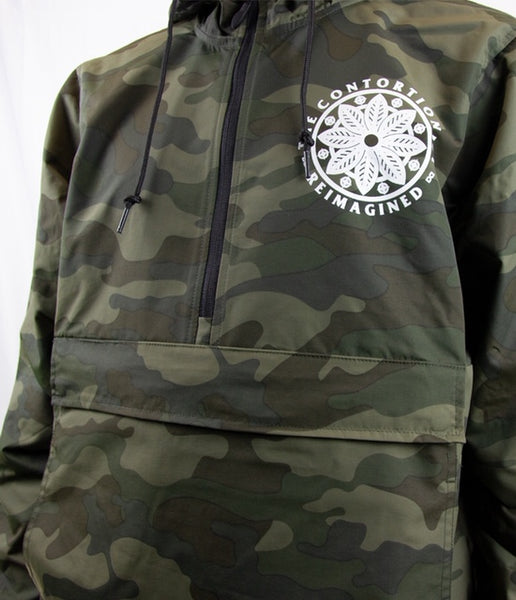 The Contortionist Reimagined Camo Hooded Windbreaker Jacket