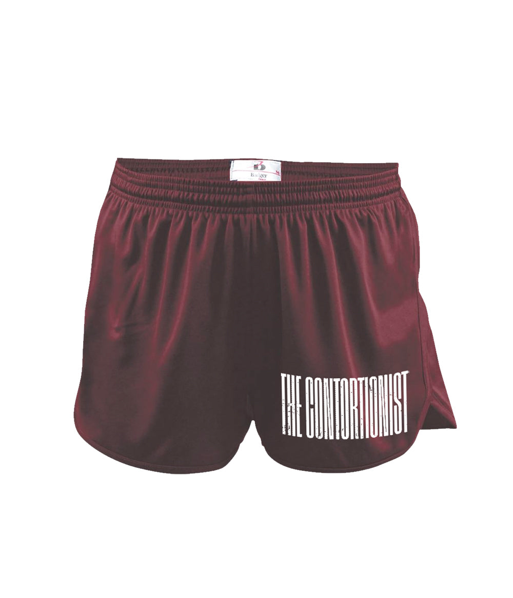 The Contortionist Expand Logo Running Shorts (Maroon)