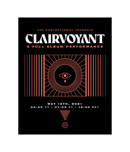 The Contortionist Clairvoyant A Full Album Performance Poster *PREORDER SHIPS 6/4