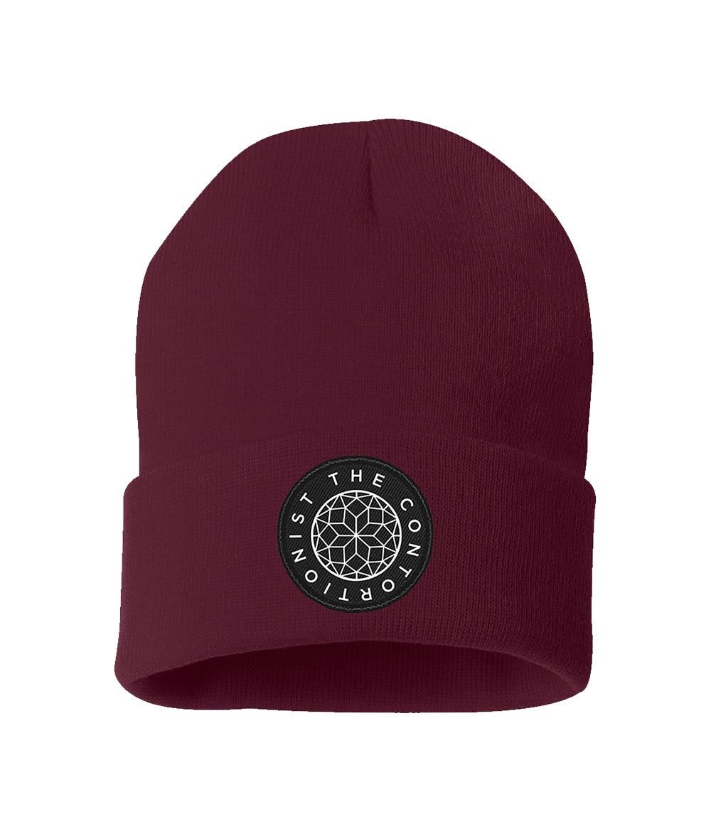The Contortionist Mother Sun Patch Beanie (Maroon)
