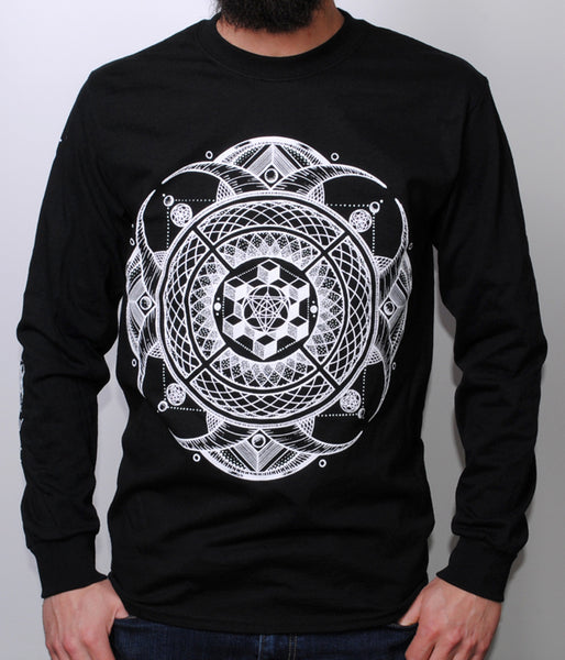 The Contortionist Flourish Long Sleeve Shirt (Black)