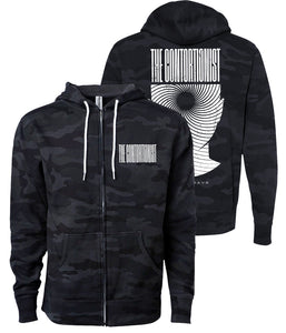 The Contortionist Expand Black Camo Zip Hooded Sweatshirt **Preorder - Ships 12/09