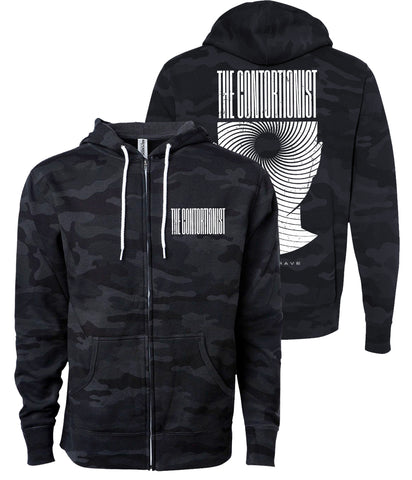 The Contortionist Expand Black Camo Zip Hooded Sweatshirt