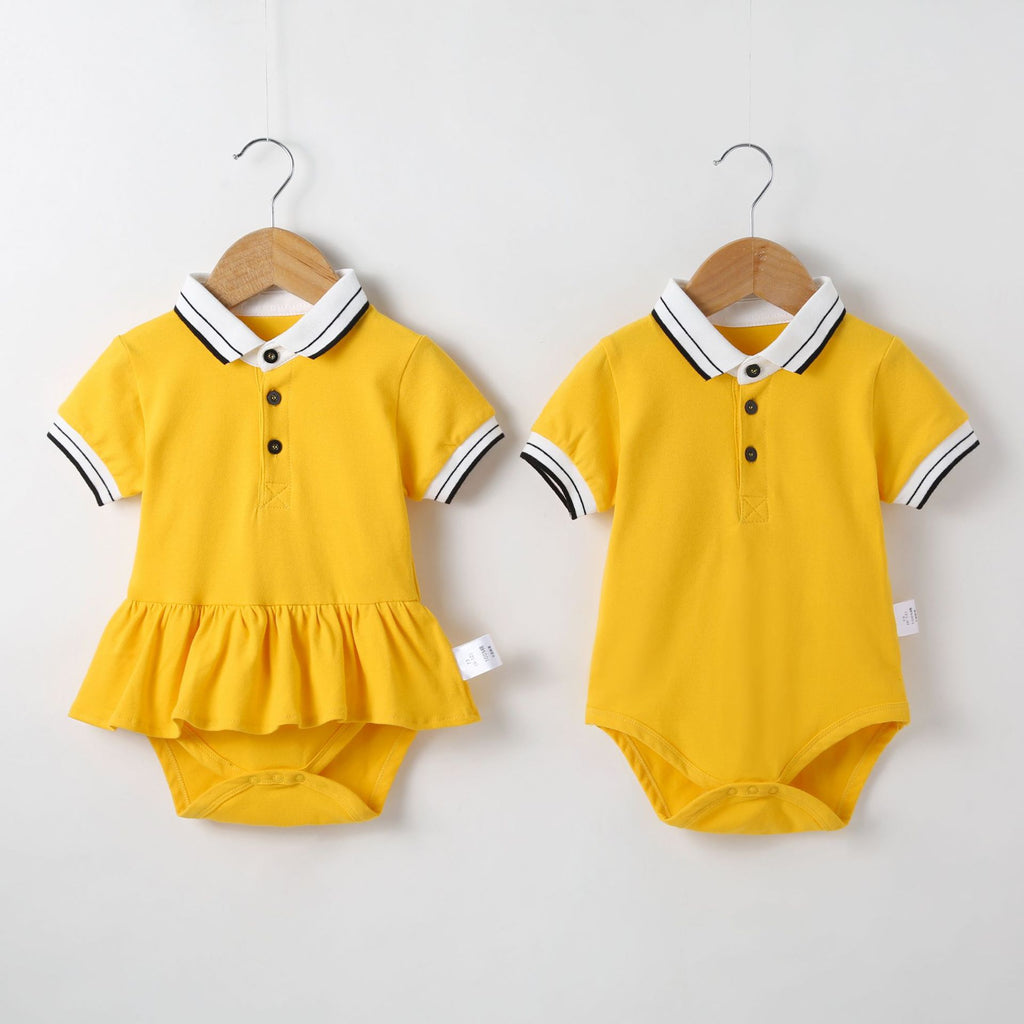 Matching Polo Sibling Romper