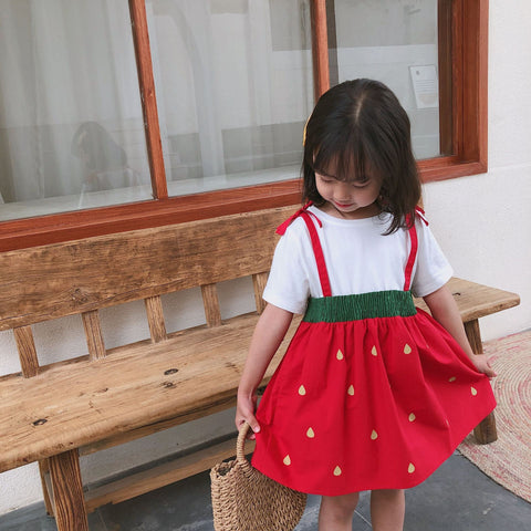 Strawberry Suspender Dress