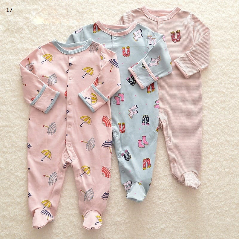 Mamas & Papas Sleepsuits - Umbrella (Pack of 3)