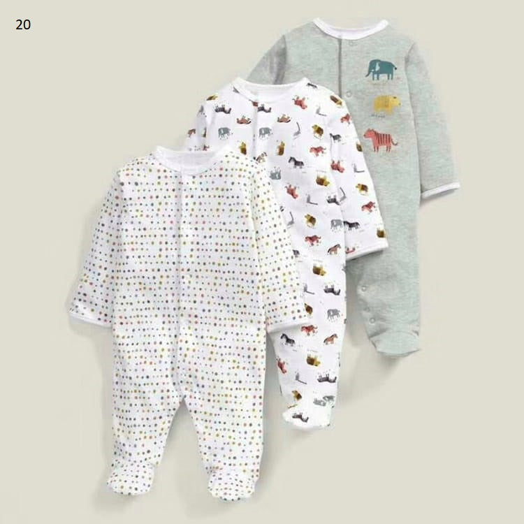Mamas & Papas Sleepsuits - Zoo (Pack of 3)