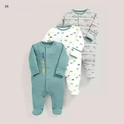 Mamas & Papas Sleepsuits - Cars (Pack of 3)