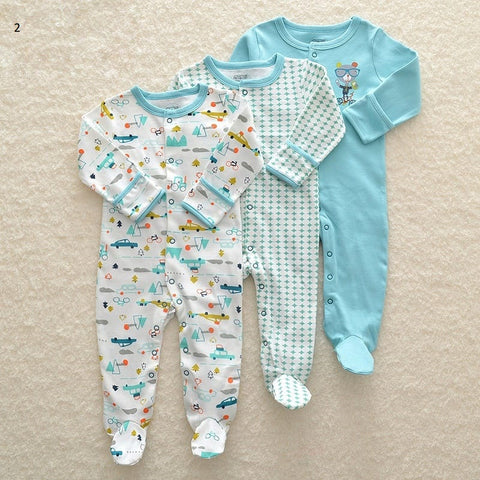 Mamas & Papas Sleepsuits - Bear (Pack of 3)