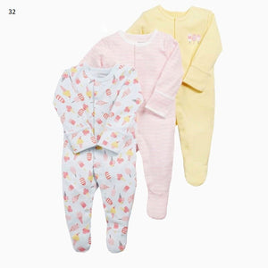 Mamas & Papas Sleepsuits - Icecream (Pack of 3)