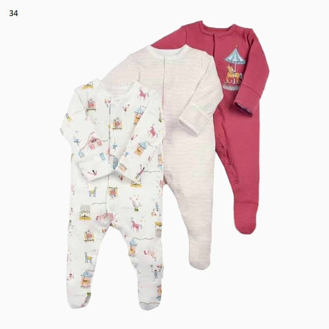 Mamas & Papas Sleepsuits - Circus (Pack of 3)