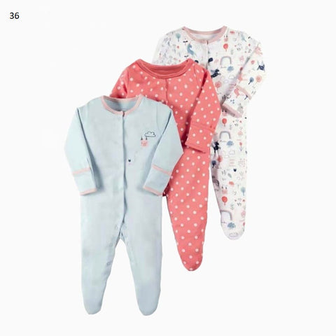 Mamas & Papas Sleepsuits - Polkadot (Pack of 3)