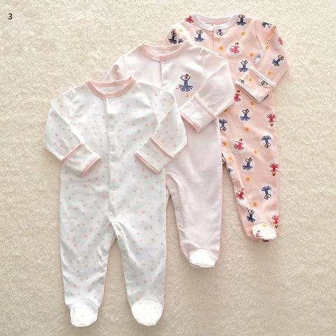 Mamas & Papas Sleepsuits - Ballerina (Pack of 3)