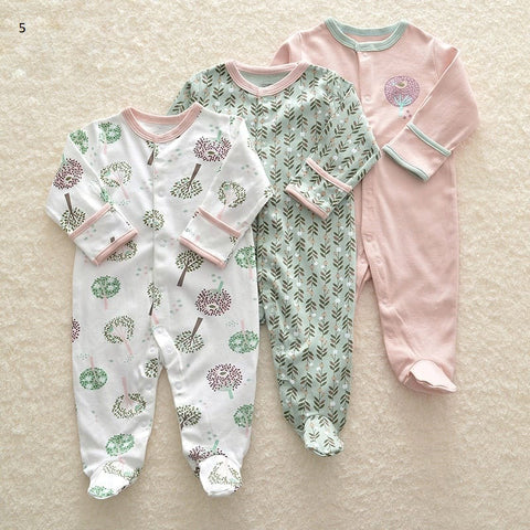 Mamas & Papas Sleepsuits - Trees (Pack of 3)