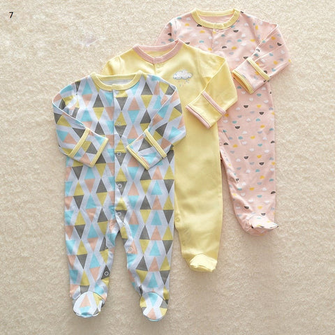 Mamas & Papas Sleepsuits - Geometric Prints (Pack of 3)