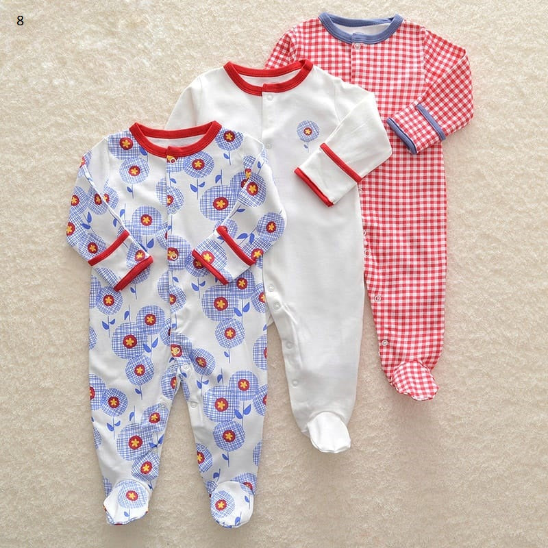 Mamas & Papas Sleepsuits - Flower (Pack of 3)