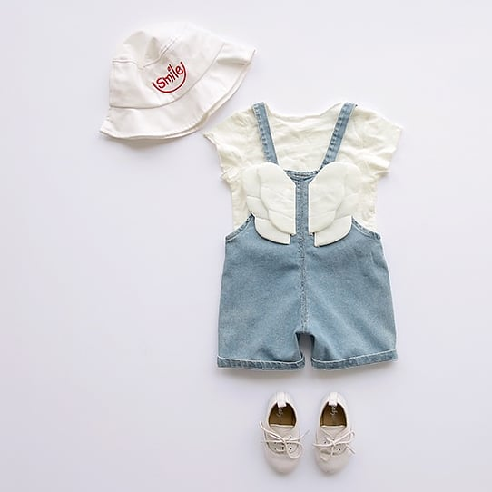 Angel Denim Romper