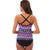 Women Vintage Floral Tribal Two Pieces Tankini Swimdress