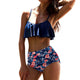 Sexy Women's Beach High Waist Bikinis Retro Swimwear