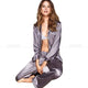 Womens Silk Satin Pajamas Set Loungewear