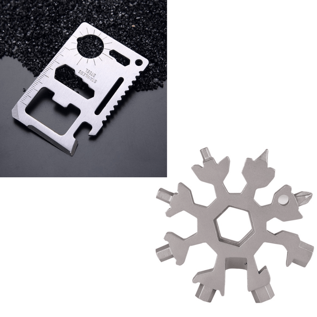 Card Multitool with FREE 18-IN-1 Snowflake Multitool