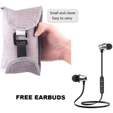 Portable Pocket Gym with FREE Wireless Bluetooth Earbuds