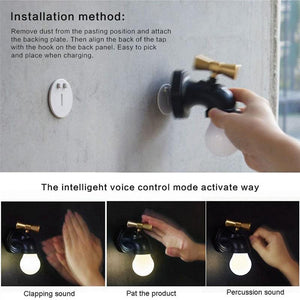 Smart Voice Control USB Faucet LED Light