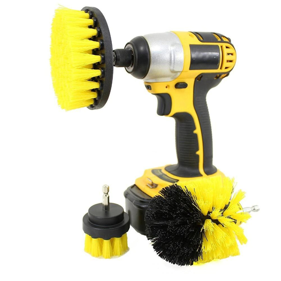 Power Scrubbing 3pc Drill Brush Set