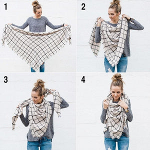 Cashmere Plaid Scarf | BUY 1, GET 2 FREE