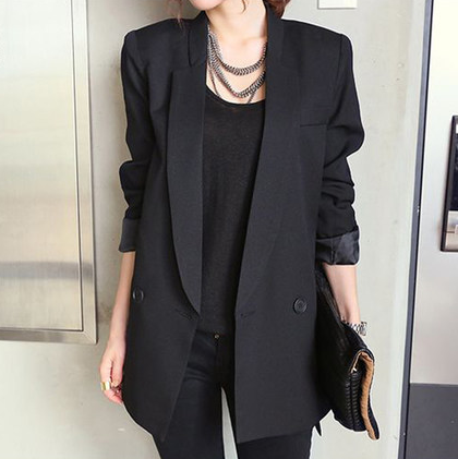 Solid Long Style Coat
