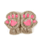 Cute Paw Half Finger Gloves