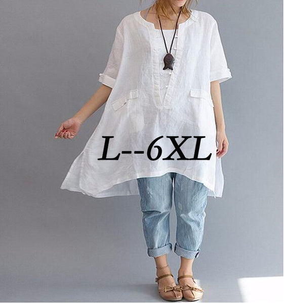 Fifth Sleeve Loose Fit Blouse