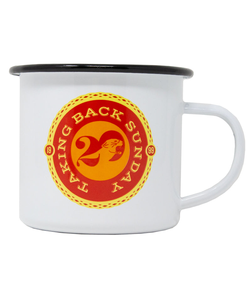 Taking Back Sunday Twenty Logo Enamel Mug