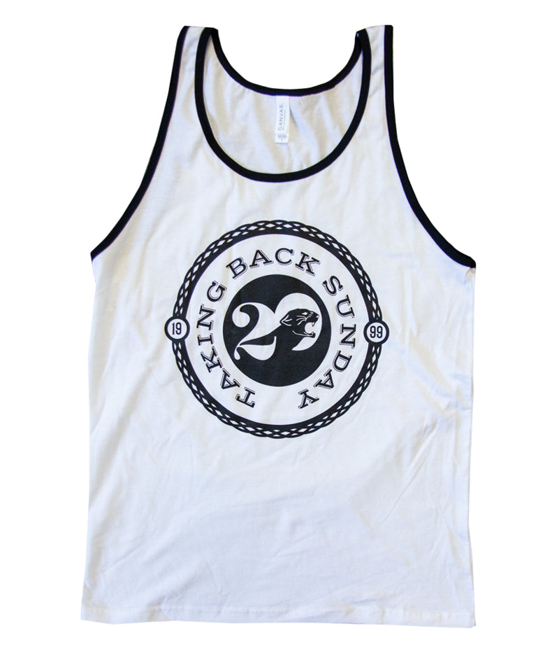 Taking Back Sunday 20 Year Tank Top (White)