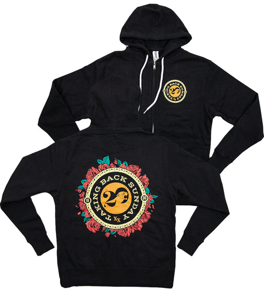 Taking Back Sunday XX Roses Zip Hooded Sweatshirt