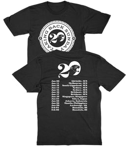 Taking Back Sunday Twenty 2019 Tour Shirt
