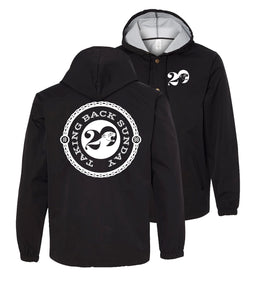 Taking Back Sunday Twenty Logo Hooded Windbreaker Jacket