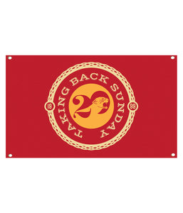 Taking Back Sunday Twenty Logo Wall Flag