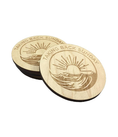 Taking Back Sunday Tidal Wave Engraved Coaster Set
