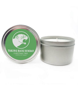 Taking Back Sunday Christmas Tree Scented Soy Candle